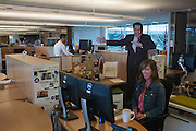 A life-sized Stephen Colbert cutout is seen in the communication's department at the Bill and Melinda Gates Foundation in Seattle, Washington, USA on Wednesday, 3 June 2015. (Matt Mills McKnight for Le Monde)