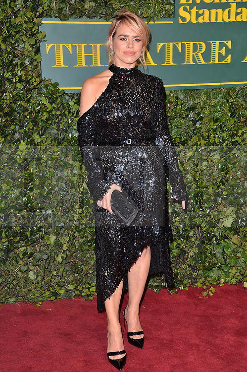 © Licensed to London News Pictures. 03/12/2017. London, UK. BILLIE PIPER attends the London Evening Standard Theatre Awards 2017 held at the Theatre Royal, Dury Lane. Photo credit: Ray Tang/LNP