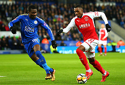 Amari'i Bell of Fleetwood Town takes on Daniel Amartey of Leicester City - Mandatory by-line: Robbie Stephenson/JMP - 16/01/2018 - FOOTBALL - King Power Stadium - Leicester, England - Leicester City v Fleetwood Town - Emirates FA Cup third round proper