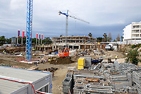 Apartment construction, Taylor Wimpey site, San Pedro de Alcantara, Marbella, Spain, April, 2016. Completed Taylor Wimpey apartments on right of picture. 201604192437<br /> <br /> Copyright Image from Victor Patterson, 54 Dorchester Park, Belfast, UK, BT9 6RJ<br /> <br /> t1: +44 28 9066 1296 (from Rep of Ireland 048 9066 1296)<br /> t2: +44 28 9002 2446 (from Rep of Ireland 048 9002 2446)<br /> m: +44 7802 353836<br /> <br /> e1: victorpatterson@me.com<br /> e2: victorpatterson@gmail.com<br /> <br /> The use of my copyright images is subject to my Terms & Conditions.<br /> <br /> It is IMPORTANT that you familiarise yourself with them. They are available on my website at www.victorpatterson.com.<br /> <br /> None of my copyright images may be used on a website unless they are visibly watermarked, i.e. © Victor Patterson within the body of the visible image. Metadata denoting my copyright must NOT be deleted. <br /> <br /> Web use is extra at currently recommended NUJ rates.