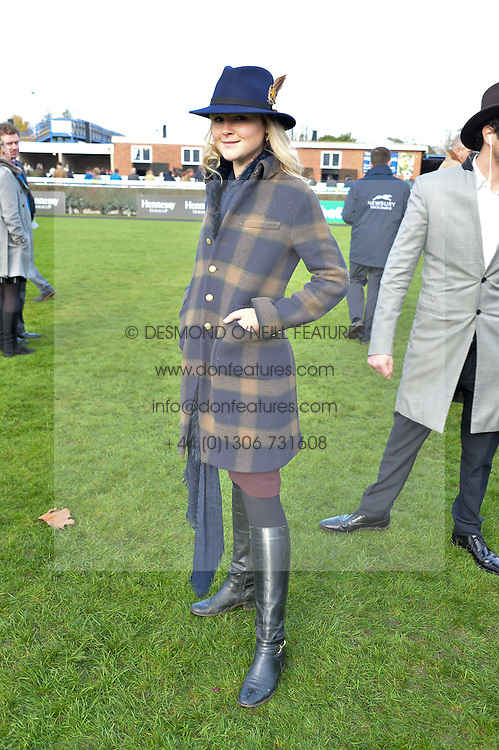 NEWBURY, ENGLAND 26TH NOVEMBER 2016: Amber Atherton at Hennessy Gold Cup meeting Newbury racecourse Newbury England. 26th November 2016. Photo by Dominic O'Neill