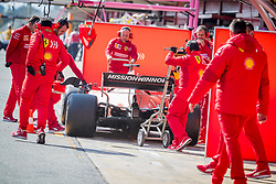 February 19, 2019 - Montmelo, Barcelona, Catalonia, Spain - Barcelona-Catalunya Circuit, Montmelo, Catalonia, Spain - 19/02/2018: Charles Leclerc teammates working on his SF90 during second journey of F1 Test Days in Montmelo circuit. (Credit Image: © Javier Martinez De La Puente/SOPA Images via ZUMA Wire)