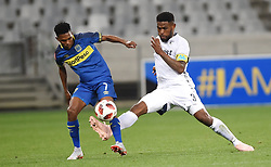 Cape Town-181002- Bidvest Wits  defender Thulani Hlatshwayo  challenges  Cape Town City's Gift Links  in a PSL clash at the Cape Town stadium.Wits are fighting to get back the top spot after poor display in their last two games .Photographs:Phando Jikelo/African News Agency/ANA