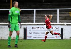 Ebony Salmon of Bristol City Women celebrates scoring her sides second goal of the game - Mandatory by-line: Ryan Hiscott/JMP - 30/01/2021 - FOOTBALL - Twerton Park - Bath, England - Bristol City Women v Brighton and Hove Albion Women - FA Womens Super League 1