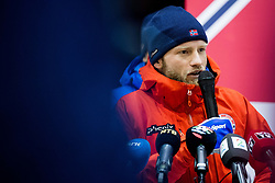 February 9, 2018 - Pyeongchang, SOUTH KOREA - 180209 Martin Johnsrud Sundby of Norway during a press event with the Norwegian men's cross-country team during the 2018 Winter Olympics on February 8, 2018 in Pyeongchang..Photo: Jon Olav Nesvold / BILDBYRN / kod JE / 160147 (Credit Image: © Jon Olav Nesvold/Bildbyran via ZUMA Press)
