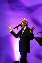 20 November 2015. Orpheum Theater, New Orleans, Louisiana. <br /> Memorial service for musician Allen Toussaint. <br /> Boz Skaggs performs on stage.<br /> Photo; Charlie Varley/varleypix.com
