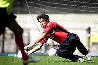 seizoen 2006 / 2007 , 14-07-2006 training in de alkmaarderhout khalid sinouh bij az