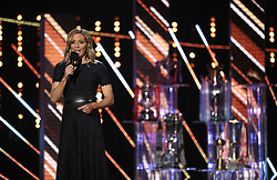 Gabby Logan on stage during the BBC Sports Personality of the Year 2018 at Birmingham Genting Arena.