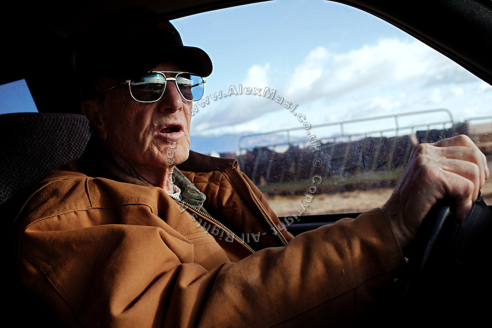 Dean Baker, 72, owner of the largest ranch in Snake Valley, is driving on his land near Baker, Utah, USA. Although opposing South Nevada Water Authority (SNWA) 300-mile water pipeline project, he is one of the very few inhabitants of Snake Valley that is supporting Utah Governor Gary R. Herbert to sign a legal agreement between Utah and Nevada. This document should protect their future rights and the local environment, but would also allow for the beginning of the pipeline construction: many people fear that once pumping water, it will not be easily stopped, even if breaching any of the points outlined within the agreement.