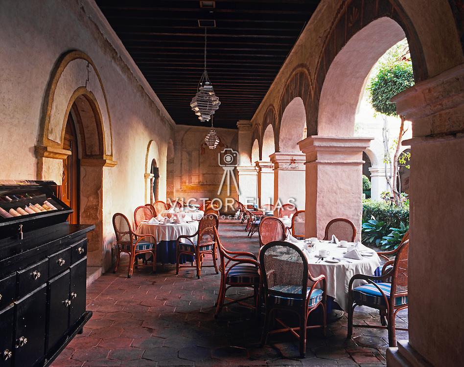 Interior of Convento de Oaxaca now Camino Real hotel. Oaxaca, Mexico.