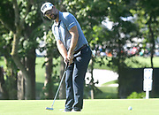 ST. LOUIS, MO - AUGUST 09: Ryan Moore putts on the #10 green during the first round of the PGA Championship on August 09, 2018, at Bellerive Country Club, St. Louis, MO.  (Photo by Keith Gillett/Icon Sportswire)