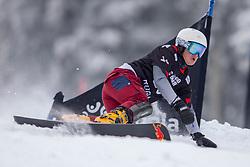 Nevin Galmarini (SUI) during Final Run at Parallel Giant Slalom at FIS Snowboard World Cup Rogla 2019, on January 19, 2019 at Course Jasa, Rogla, Slovenia. Photo byJurij Vodusek / Sportida