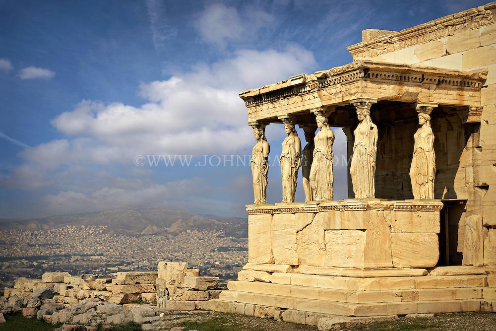 The Erechtheum in Athens, Greece