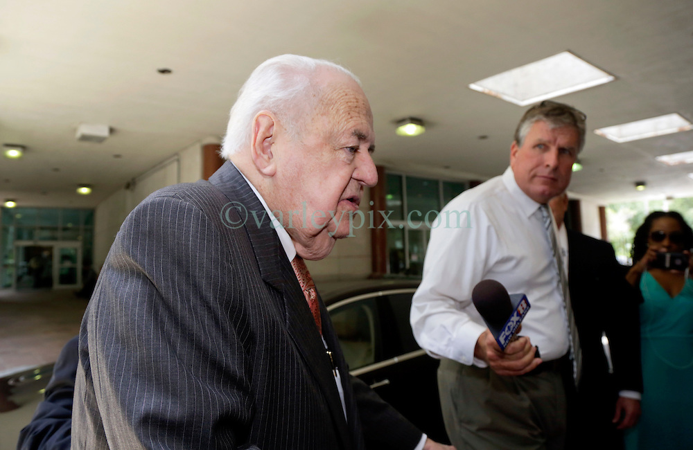 11 June  2015. New Orleans, Louisiana. <br /> Tom Benson arrives at Civil District Court. Benson, the billionaire owner of the NFL New Orleans Saints, the NBA New Orleans Pelicans, various auto dealerships, banks, property assets and a slew of business interests is attending a hearing to determine his level of competency to manage his business empire. Benson changed his succession plans and  decided to leave the bulk of his estate to third wife Gayle, sparking a controversial fight over control of the Benson business empire.<br /> Photo©; Charlie Varley/varleypix.com