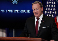 The daily press briefing by press secretary Sean Spicer in the White House press briefing room on February 23,2017<br /> <br /> Photo by Dennis Brack