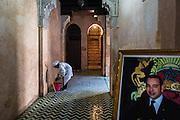 A medersa, Koran school, inside the ancient medinah of Meknes