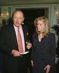 MAJOR CHRISTOPHER HANBURY and his daughter MISS JESSICA HANBURY at a fashion show in London on April 7th 1997.LXL 15