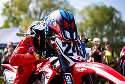 Tim Gajser of Slovenia #243 during motocross race for Slovenian national championship in Prilipe, Brezice, Slovenija on 9th of April, 2017, Slovenia. Photo by Grega Valancic / Sportida