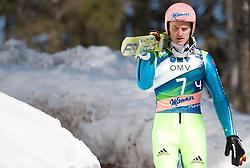 23.03.2013, Planica, Kranjska Gora, SLO, FIS Ski Sprung Weltcup, Skifliegen, Team, 1. Wertungsdurchgang, im Bild  Severin Freund (GER) // Severin Freund of Germany before his 1st jump of the FIS Skijumping Worldcup Team Flying Hill, Planica, Kranjska Gora, Slovenia on 2013/03/23. EXPA Pictures © 2012, PhotoCredit: EXPA/ Juergen Feichter