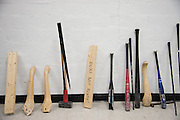 Various tools of destruction visitors can choose from at the Anger Room in Dallas, Texas on November 18, 2016. (Cooper Neill for The New York Times)