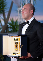 Cesar Augusto Acevedo, winner of the Camera d'Or for La Tierra y la Sombra at the Palm D'Or award winners photo call at the 68th Cannes Film Festival Sunday May 24th 2015, Cannes, France.