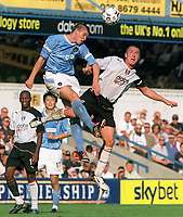 Joey Barton (Man City) Lee Clark (Fulham) Fulham v Manchester City. 20/9/03. Credit : Colorsport/Andrew Cowie.