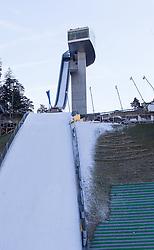 27.12.2015, Bergisel Schanze, Innsbruck, AUT, FIS Weltcup Ski Sprung, Vierschanzentournee, Vorberichte, im Bild die Schanze // the ski- jump during preperation work for the Four Hills Tournament of FIS Ski Jumping World Cup at the Bergisel Schanze, Innsbruck, Austria on 2016/01/02. EXPA Pictures © 2016, PhotoCredit: EXPA/ Jakob Gruber