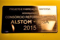 May 25, 2019 - SãO Paulo, Brazil - SÃO PAULO, SP - 25.05.2019: CADE DEVE CONDENAR CARTEL DE TRENS - CADE wants to try a process to establish a cartel to defraud bids for trains and subways in São Paulo. In the photo plate on subway train, this Saturday (25) (Credit Image: © Roberto Casimiro/Fotoarena via ZUMA Press)