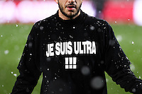 "Maillot soutien supporters Nice interdits de stade de Metz ""je suis interdit"" - 31.01.2015 - Metz / Nice - 23eme journee de Ligue 1<br />