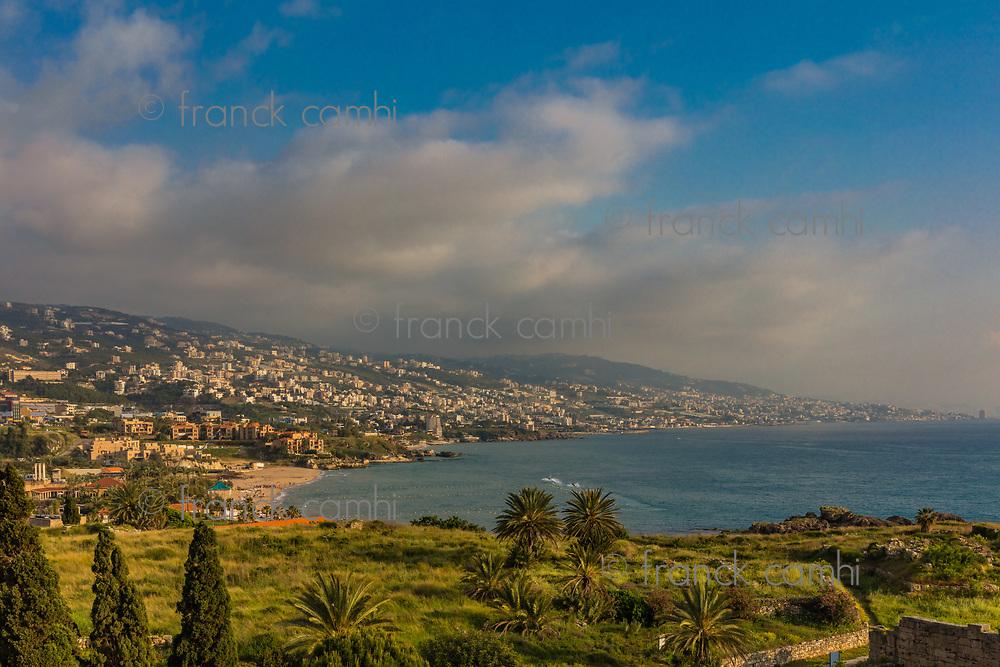 coastline  of Byblos Jbeil in Lebanon Middle east