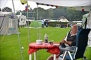 Nederland, Nijmegen, 15-7-2015De voorbereidingen voor de komende vierdaagse en bijhorende zomerfeesten zijn in volle gang. Op de Waalkade en het Valkhof wodt gewerkt aan de podia en  de vierdaagsecamping op de sportvelden van SC Hatert loopt langzaam maar zeker vol. Zaterdag gaan de zomerfeesten in de stad van start en vanaf dinsdag de lopers aan de vierdaagse. The International Four Day Marches Nijmegen, or Vierdaagse, is the largest marching event in the world. It is organized every year in Nijmegen mid-July as a means of promoting sport and exercise. Participants walk 30, 40 or 50 kilometers daily, and on completion, receive a royally approved medal, Vierdaagsekruisje. The participants are mostly civilians, but there are also a few thousand military participants. The maximum number of 45,000 registrations has been reached. More than a hundred countries have been represented in the Marches over the years.  Foto: Flip Franssen/Hollandse Hoogte