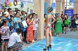 August 9, 2017 - Xi'An, Xi'an, China - Xi'an, CHINA-August 5 2017: (EDITORIAL USE ONLY. CHINA OUT) ..A bikini show of Peking Opera style is held at the International Tourism Expo in Xi'an, northwest China's Shaanxi Province, August 5th, 2017. (Credit Image: © SIPA Asia via ZUMA Wire)