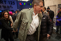 Anchor and managing editor of NBC Nightly News, Brian Williams, arrives to see Bruce Springsteen and the E Street Band perform at the Apollo in New York...Photo by Robert Caplin.