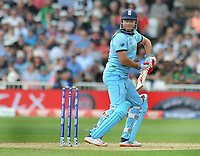 Cricket - 2019 ICC Cricket World Cup - Group Stage: England vs. Pakistan<br /> <br /> Jonny Bairstow of England watches as he is caught in the slips , at Trent Bridge, Nottingham.<br /> <br /> COLORSPORT/ANDREW COWIE