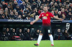Manchester United manager Jose Mourinho looks on from the dugout