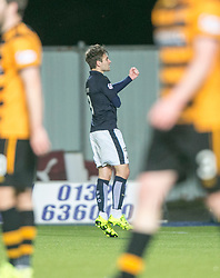 Falkirk's Luke Leahy celebrates after scoring their fifth goal. <br /> Falkirk 5 v 0 Alloa Athletic, Scottish Championship game played at The Falkirk Stadium.