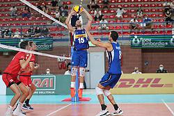 RICCARDO SBERTOLI (ITALIA)<br /> ITALIA - BELGIO<br /> AMICHEVOLE NAZIONALE ITALIANA PALLAVOLO VOLLEYBALL MASCHILE<br /> MANTOVA 25-08-2021<br /> FOTO FILIPPO RUBIN