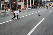 Ginza Tokyo Chuo Dori Sunday afternoon