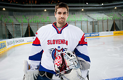 Gasper Kroselj during first practice session of Slovenian National Ice Hockey team in Arena Stozice before 2012 IIHF World Championship DIV I Group A in Slovenia, on April 13, 2012, in Arena Stozice, Ljubljana, Slovenia. (Photo by Vid Ponikvar / Sportida.com)