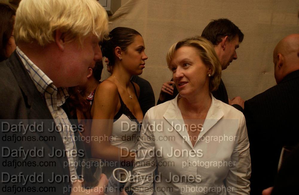 Boris Johnson and Tina Brown. Spectator party. Doughty St. London. 28 July 2005.