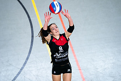 Lisa Vossen of VCN in action during the first league match between Djopzz Regio Zwolle Volleybal - Laudame Financials VCN on February 27, 2021 in Zwolle.