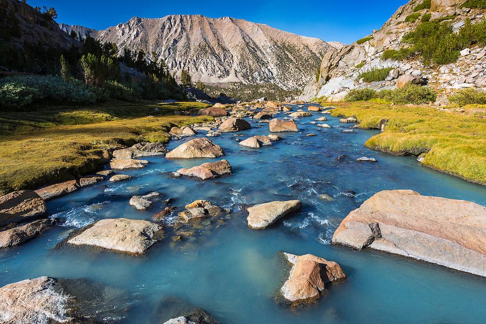 Stream in Sam Mack Meadow, John Muir Wilderness, Sierra Nevada Mountains, California
