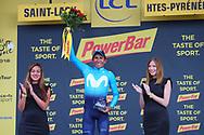 Podium, Hotess, Miss, Nairo Quintana (COL - Movistar) winner during the 105th Tour de France 2018, Stage 17, Bagneres de Luchon - Col du Portet (65 km) on July 25th, 2018 - Photo George Deswijzen / Pro Shots / ProSportsImages / DPPI