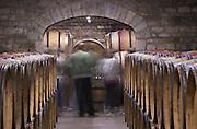 barrel aging cellar people tasting wine dom rossignol trapet gevrey-chambertin cote de nuits burgundy france