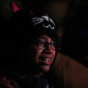 A boy cries at a townwide community vigil on Sherman Green. Fairfield, Connecticut after the mass shootings at Sandy Hook Elementary School, Newtown, Connecticut, USA. 17th December 2012. Photo Tim Clayton