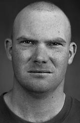 Sgt. James Eldridge, 26, Lynn, Massachusettes, Weapons Platoon, Kilo Co. 3rd Battalion 1st Marines, United States Marine Corps, at the company's firm base in Haditha, Iraq on Sunday Oct. 22, 2005.