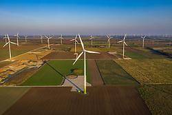THEMENBILD - Windkrafträder im Windpark Parndorf am Montag den 14. September 2020 // Wind turbines in the Parndorf wind farm on Monday, September 14, 2020. EXPA Pictures © 2020, PhotoCredit: EXPA/ Johann Groder