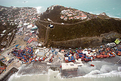 September 6, 2017 - Philipsburg, St Maarten - An aerial photograph provided by the Dutch Ministry of Defense shows the damage of Hurricane Irma on the Caribbean island of St. Maarten. Massive destruction of the port and buildings in the wake of a direct hit by Hurricane Irma, a Category 5 storm lashing the Caribbean September 6, 2017 in Philipsburg, St. Maarten. Imra is packing winds of 185-mph making it the strongest hurricane ever recorded in the Atlantic Ocean. (Credit Image: © Gerben Van Es/Dutch Ministry of Defense/Planet Pix via ZUMA Wire)
