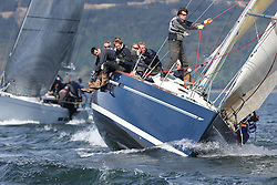 The Clyde Cruising Club's Scottish Series held on Loch Fyne by Tarbert. Day 2 racing in a perfect southerly..GBR9192R ,Eos ,Rod Stuart ,CCC/PEYC ,Elan 410