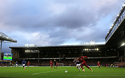 General view of the action during the Premier League match at Goodison Park, Liverpool.